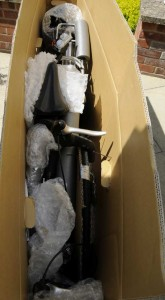 Aln's bike in box