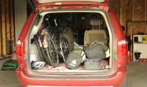 Bikes in rear of Veh